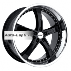 TSW Jarama 8x18/5x112 ET32 D72 Jarama Gloss Black Mirror Cut Lip